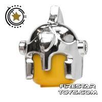 Product shot BrickForge - Battle Helmet - Chrome Silver