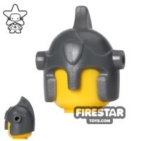 Product shot BrickForge - Battle Helmet - Dark Blueish Gray