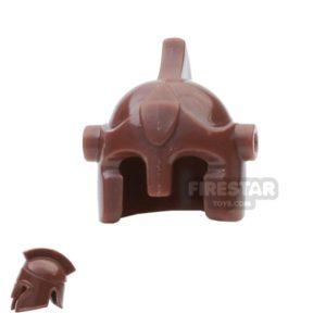 Product shot BrickForge - Battle Helmet - Reddish Brown