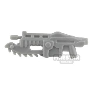 Product shot BrickForge - Gears of War - Shredder Gun - Silver