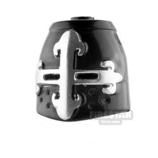 Product shot BrickForge - Great Helm - Black with Silver Cross