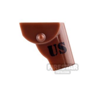 Product shot BrickForge - Gun Holster - US - Reddish Brown - RIGGED System