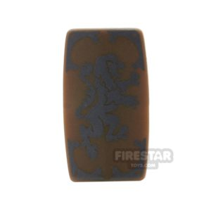 Product shot BrickForge - Military Shield - Medieval Lion - Bronze