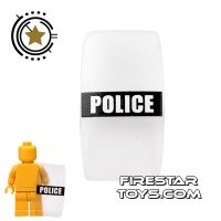 Product shot BrickForge - Military Shield - Police - Black and White