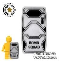 Product shot BrickForge - Military Shield - Truesilver - Bomb Squad