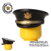 Product shot BrickForge - Officer Hat - US Army - Black