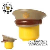 Product shot BrickForge - Officer Hat - US Army - Tan