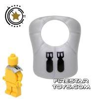 Product shot BrickForge - Pauldron - Truesilver - Bomb Squad
