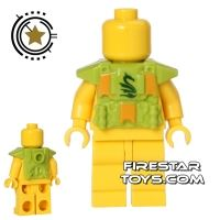 Product shot BrickForge - Printed Shock Trooper Armour - Serpent - Lime