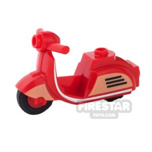 Product shot BrickForge - Retro Scooter - Red