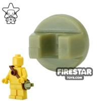 Product shot BrickForge - Round Clip - Olive Green - RIGGED System