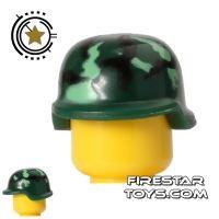 Product shot BrickForge - Soldier Helmet - Dark Green Camo