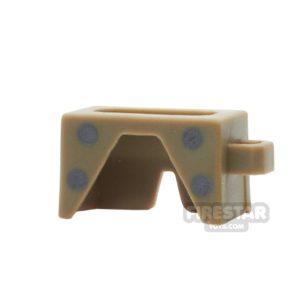 Product shot BrickForge - Waist Armour - Dark Tan - Steel Studs