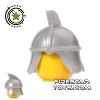 Product shot BrickTW - Xiongnu Soldier Helmet - Light Blueish Gray