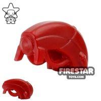 Product shot BrickWarriors - Android Head - Dark Red