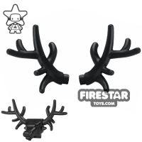 Product shot BrickWarriors - Antlers - Black - Pair