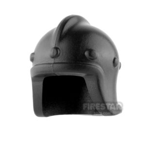 Product shot BrickWarriors - Archer Helm - Black