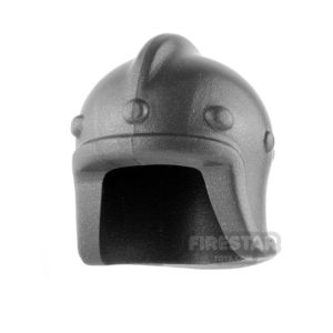 Product shot BrickWarriors - Archer Helm - Steel