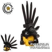 Product shot BrickWarriors - Bladed Helm - Black