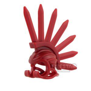 Product shot BrickWarriors - Bladed Helm - Dark Red