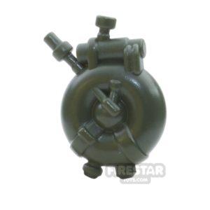 Product shot BrickWarriors - British Flame Tank - Army Green