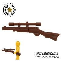 Product shot BrickWarriors - Buffalo Rifle - Brown