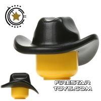 Product shot BrickWarriors - Cowboy Hat - Black