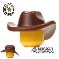 Product shot BrickWarriors - Cowboy Hat - Brown