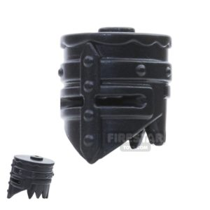 Product shot BrickWarriors - Crusader Helm - Black