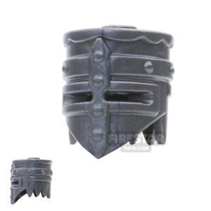 Product shot BrickWarriors - Crusader Helm - Steel