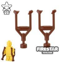Product shot BrickWarriors - Crutches - Brown
