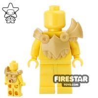 Product shot BrickWarriors - Demon Armour - Pearl Gold