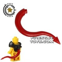 Product shot BrickWarriors - Dragon Tail - Dark Red