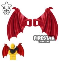 Product shot BrickWarriors - Dragon Wings - Dark Red