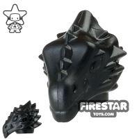 Product shot BrickWarriors - Dragonman Head - Black