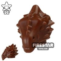 Product shot BrickWarriors - Dragonman Head - Brown