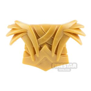 Product shot BrickWarriors - Elf Armour - Pearl Gold