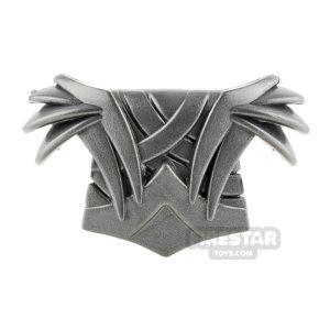 Product shot BrickWarriors - Elf Armour - Steel