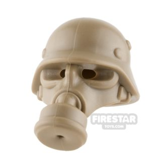 Product shot BrickWarriors - German Gas Mask - Dark Tan