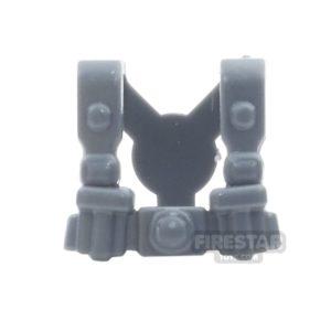 Product shot BrickWarriors - German Infantry Suspenders - Dark Gray