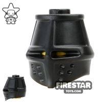 Product shot BrickWarriors - Great Helm - Black