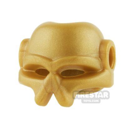 Product shot BrickWarriors - Invader Helmet - Pearl Gold