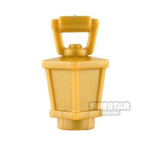 Product shot BrickWarriors - Lantern - Pearl Gold
