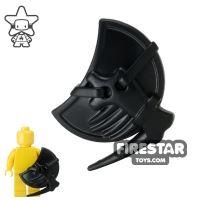 Product shot BrickWarriors - Lizardman Shield - Black