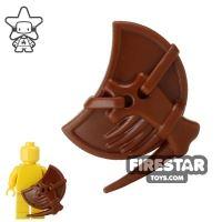 Product shot BrickWarriors - Lizardman Shield - Brown