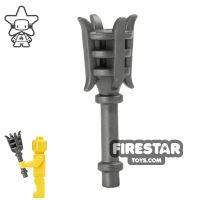 Product shot BrickWarriors - Metal Torch - Steel