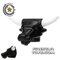 Product shot BrickWarriors - Minotaur Head - Black