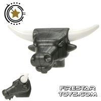 Product shot BrickWarriors - Minotaur Head - Steel