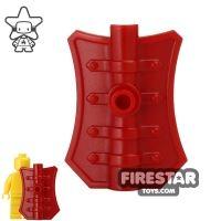 Product shot BrickWarriors - Pavise Shield - Dark Red