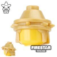 Product shot BrickWarriors - Philistine Helmet - Pearl Gold